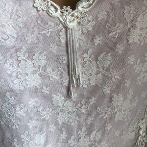 Delicates Intimates & Sleepwear - Vintage Delicates Light Pink Lacey Teddie